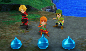 143243 3 DS Dragon Quest7 S Battle Slimes Cutscene