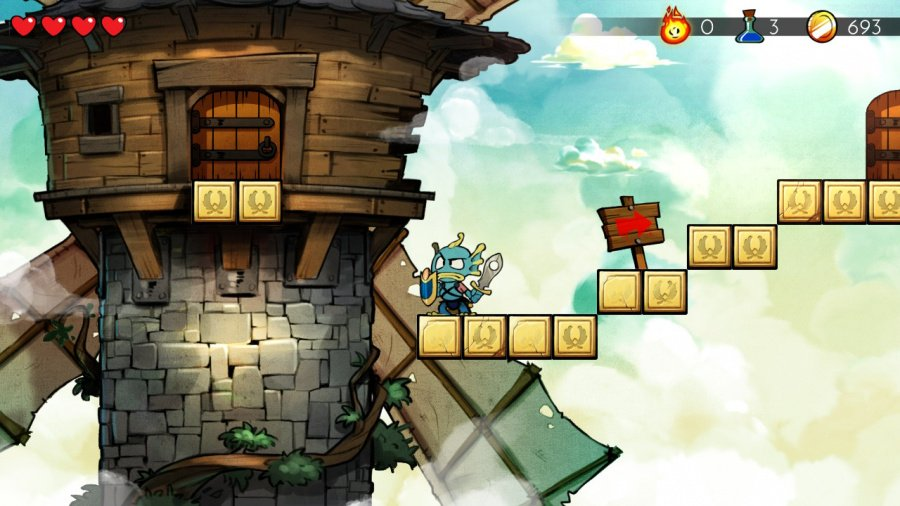 Wonder Boy The Dragons Trap Review Switch EShop Nintendo Life - Artist gives classic nes game screenshots a modern makeover and its amazing