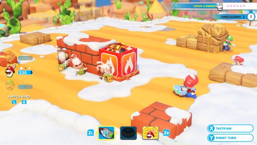 Mario + Rabbids Kingdom Battle Review - Screenshot 2 of 9
