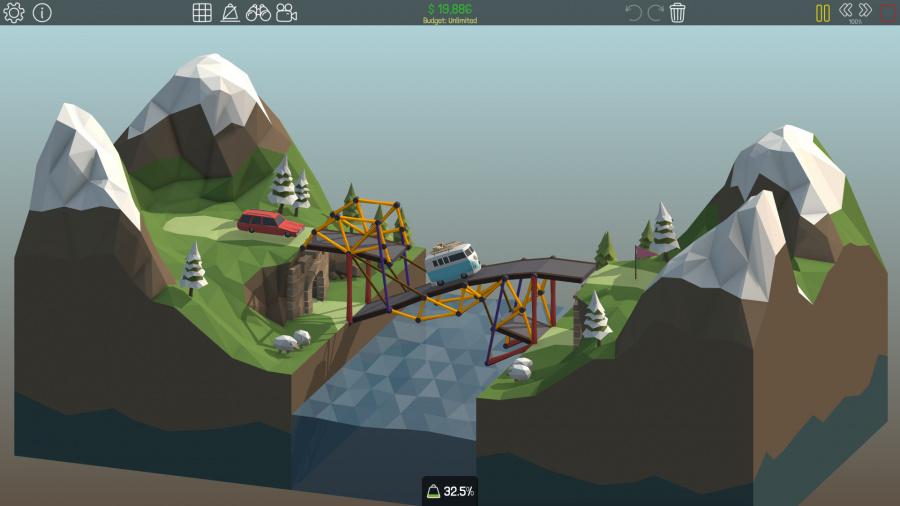 Poly Bridge Review - Screenshot 2 of 2