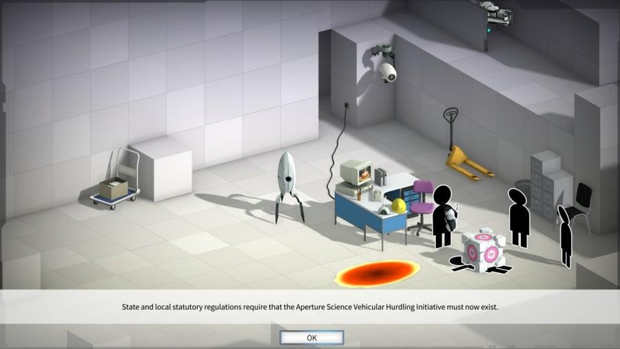 Bridge Constructor Portal Review - Screenshot 1 of 3