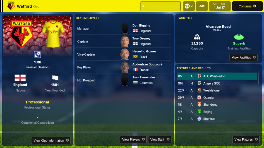 Football Manager Touch 2018 Review - Screenshot 5 of 5