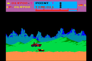 Arcade Archives Moon Patrol Screenshot