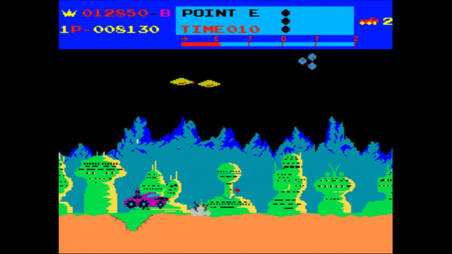Arcade Archives Moon Patrol Review - Screenshot 2 of 3