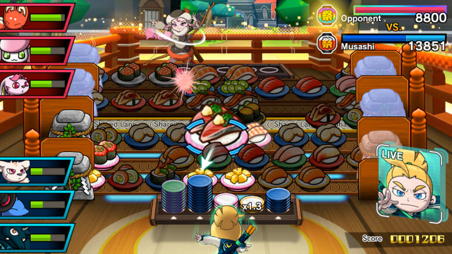 Sushi Striker: The Way of Sushido Review - Screenshot 2 of 5