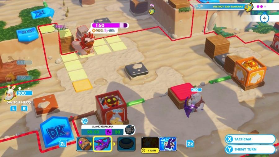 Mario + Rabbids Kingdom Battle: Donkey Kong Adventure Review - Screenshot 1 of 5