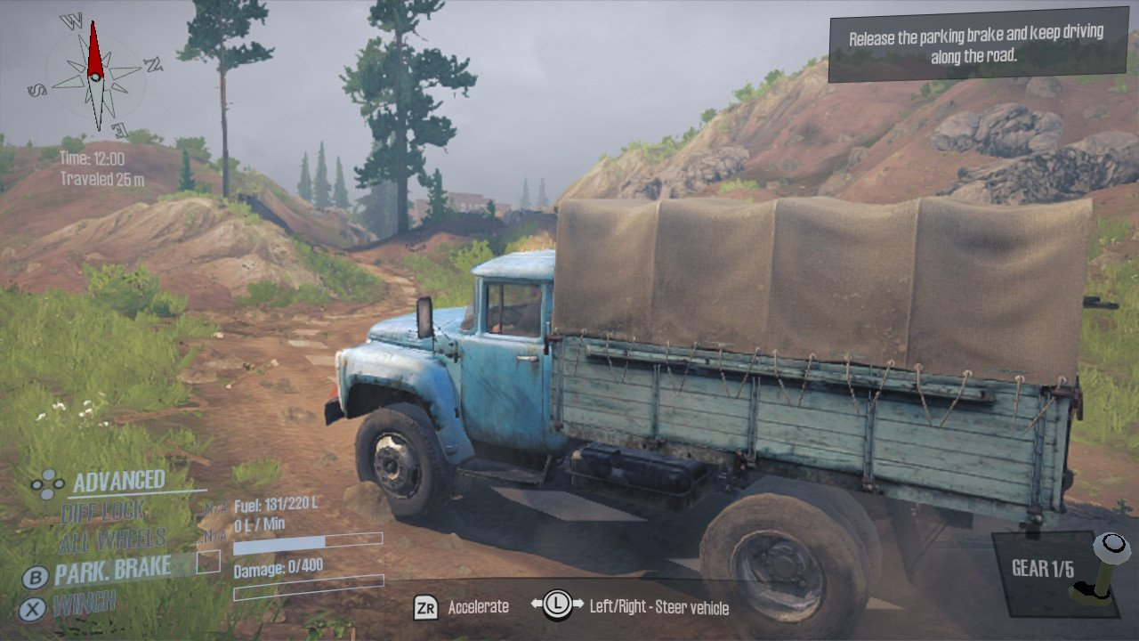 Spintires: MudRunner - American Wilds Edition Review (Switch