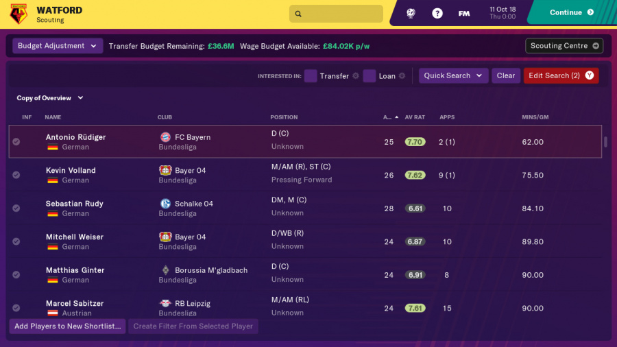 Football Manager 2019 Touch Review - Screenshot 3 of 5