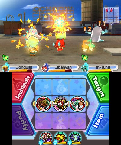 Image result for yo kai watch 3 battle system