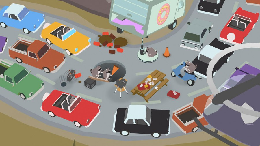 Donut County Review - Screenshot 1 of 3
