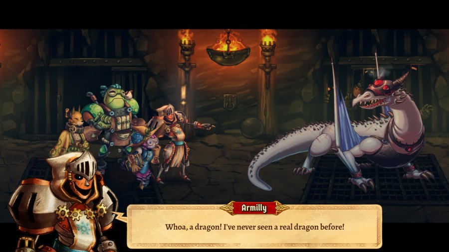 SteamWorld Quest: Hand of Gilgamech Review - Screenshot 2 of 5