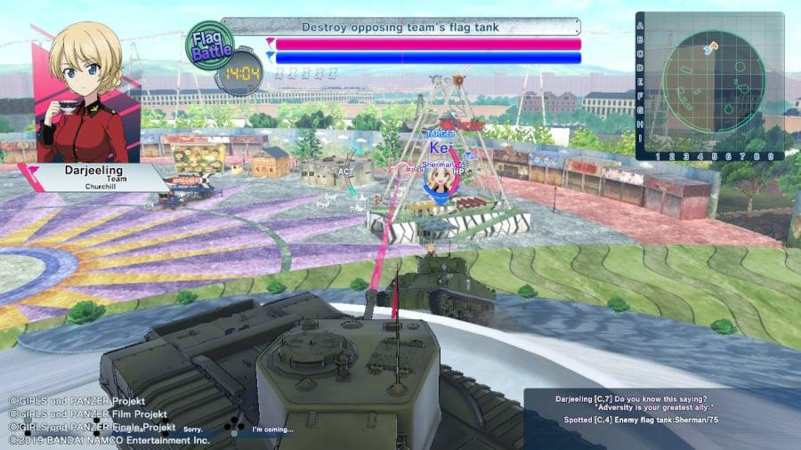 Girls Und Panzer: Dream Tank Match DX Review - Screenshot 1 of 6