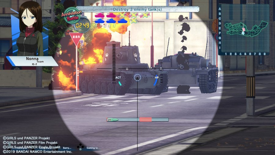 Girls Und Panzer: Dream Tank Match DX Review - Screenshot 3 of 6