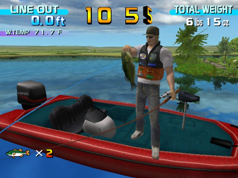 SEGA Bass Fishing Screenshot
