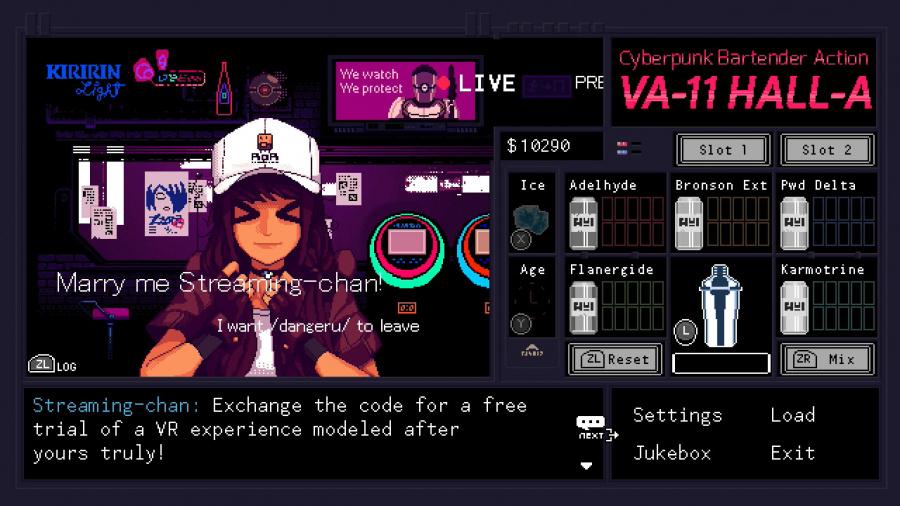 VA-11 HALL-A: Cyberpunk Bartender Action Review - Screenshot 4 of 4