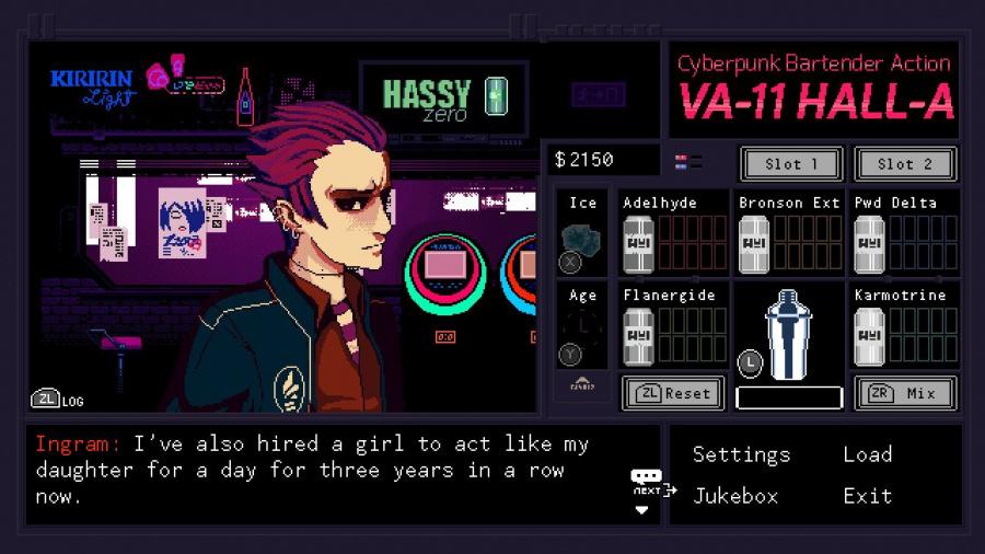 VA-11 HALL-A: Cyberpunk Bartender Action Review - Screenshot 3 of 4
