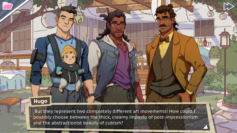 Dream Daddy: A Dad Dating Simulator Review - Screenshot 1 of 5