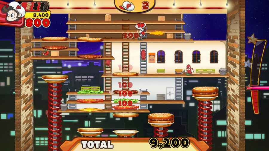 BurgerTime Party! Review - Screenshot 1 of 4