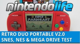 Retro Duo Portable V2.0 - SNES, NES And Mega Drive Games Test