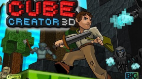 Cube Creator 3D (3DS eShop) - Survival Mode First Look